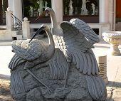 Stone Statue Of Stork