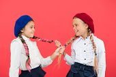 Girls Long Braids. Fashion Trend. It Is Awesome Dye Hair Fun Colors. Pupils With Long Braided Hair.  poster
