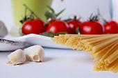 Spaghetti, Tomatoes, Garlic poster