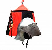 Old Helmet Of Medieval Knight poster