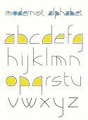 Modernistic alphabet