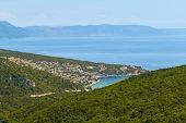 Aerial View Of Rabac, Croatian Resort Town poster