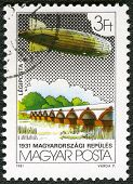 Hungary - Circa 1981: A Stamp Printed By Hungary, Shows Graf Zeppelin Flights, Circa 1981