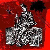 Постер, плакат: убить чудовище странные смешной картину