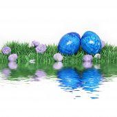 Blue Easter Decoration