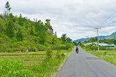 View of road in Sumatra