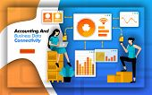 Financial Software Makes It Easy To Access Accounting And Business Data Connectivity. To Minimize Ac poster