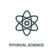 Physical Science Icon Symbol. Creative Sign From Science Icons Collection. Filled Flat Physical Scie poster
