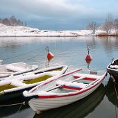 Boats Under Snow