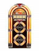picture of jukebox  - Jukebox classic retro music disks player isolated front view - JPG