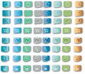Ícones de loja virtual