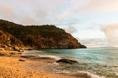 Travel Photo Of St. Barth's Island, Caribbean. The Famous Shell Beach, In St. Barth's (st. Bart's) C poster