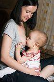 Mother Breast Feeding Baby