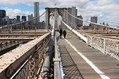 pathway on Brooklyn Bridge