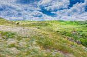 Scenery Background Crimea- Vacation Destinations. Kerch- Steppe Zone poster