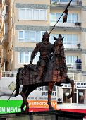 Bursa Turkey November 2: Statue of Osman Ghazi on November 2, 2010 in Bursa Turkey