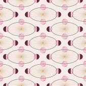 Planets And Celestial Elements In A Seamless Pattern Design poster