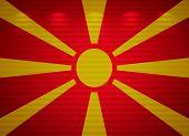 Macedonian Flag Wall, Abstract Background