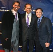 NEW YORK-JAN 24: Jorge Posada (L), Joe Torre and Bob Costas (R) attend the 10th Anniversary Joe Torre Safe At Home Foundation Gala at Pier 60, Chelsea Piers on January 24, 2013 in New York City.