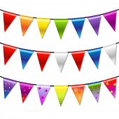 Regenbogen Bunting Banner Garland, Isolated On White Background, Vector Illustration