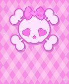 Very cute Skull on background with place for copy/text