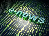 News concept: circuit board with word E-news