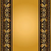 Vintage, Elegant Background, Antique, Victorian Gold, Floral Ornament, Baroque Frame, Beautiful