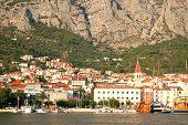 town makarska on dalmatian coast in croatia