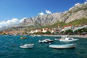 boats in makarska, croatia