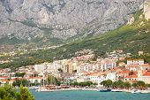 view on makarska, croatia