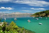 lovrecina beach on brac island, croatia