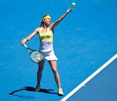 MELBOURNE - JANUARY 19: Maria Kirilenko of Russia in her third round win over Yanina Wickmayer of Be