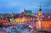 Old Town In Warsaw At Evening