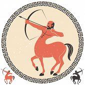 pic of centaur  - Centaur shooting an arrow - JPG