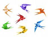 Origami swallows