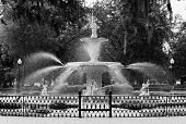 Forsyth Fountain Front BW