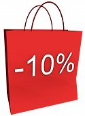 10 Percent Off Shopping Bag