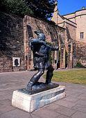 Statue of Robin Hood, Nottingham, UK.