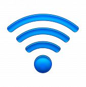 picture of antenna  - Wireless Network Symbol wifi icon vector illustration isolated on white - JPG