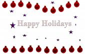 Happy Holidays Red Poster