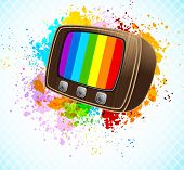 Background with tv