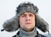 Man In A Fur Winter Hat