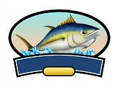 stock photo of long-fish  - Tuna fish label - JPG