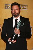 LOS ANGELES - JAN 27:  Ben Affleck pose in the press room at the 2013 Screen Actor's Guild Awards at
