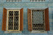 Windows Of Harem. Topkapi Palace. Istanbul. Turkey