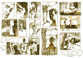 pic of storyboard  - A hand drawn illustrations - JPG