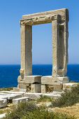 Apollo Temple, Landmark Of Naxos, Greece