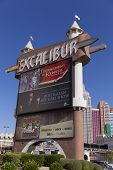 Excalibur Front Marqueel In Las Vegas, Nv On April 19, 2013