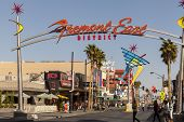 Fremont East Sign In Las Vegas, Nv On April 21, 2013