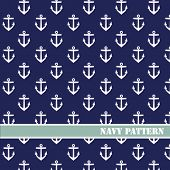 image of navy anchor  - Vector anchors pattern - JPG